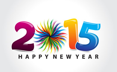 colorful new year text background