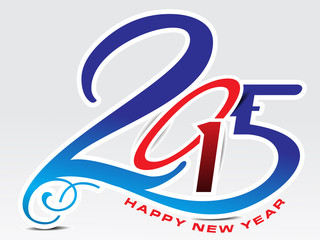 happy new year 2015 text background