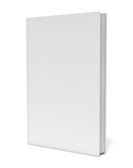 White blank book on white background