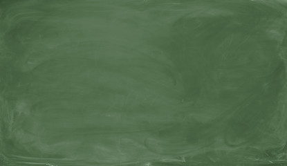 Blank green chalkboard. Background and texture.