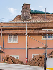 Thatched roof renewal in Somerset, UK