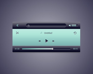 Interface of media player