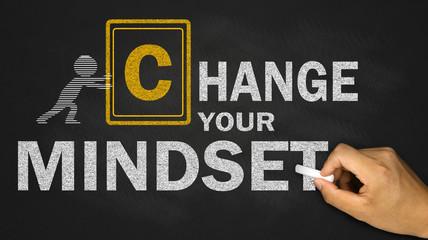 change your mindset concept on blackboard