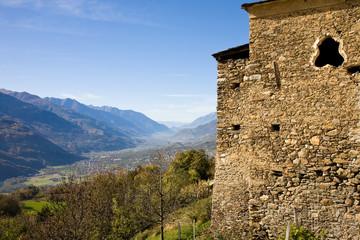 Valtellina in Italian alps