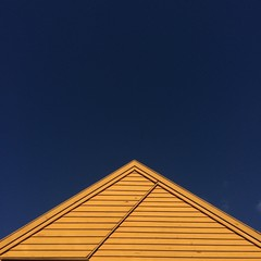 Yellow Roof Blue Sky