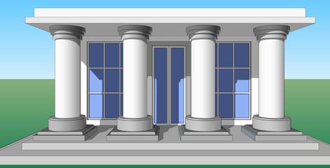 Entrance porch columns