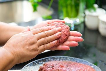 Burgerzubereitung