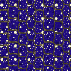 Seamless patterned frame of the cells