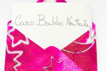 Lettera a Babbo Natale in italiano