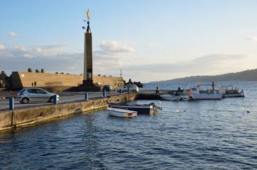 Sicilian coast in the town Acireale
