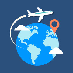 Travel, destination concept. Flat design stylish.