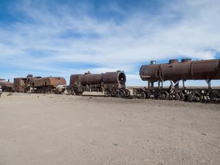 Train cemetery in Bolivia