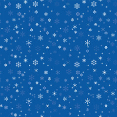 seamless texture with snowflakes