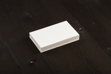 Blank Business Card - Mockup - Recycled Paper