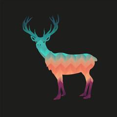 Reindeer hipster