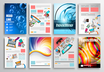 Set of Flyer Design, Web . Brochure Designs, Infographics