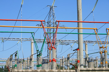 Electrical power high voltage substation