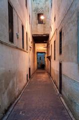 Narrow street in the medina of Fez, Morocco