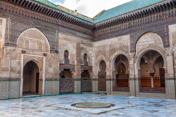 Madrasa Bou Inania in Fez, Morocco, Africa