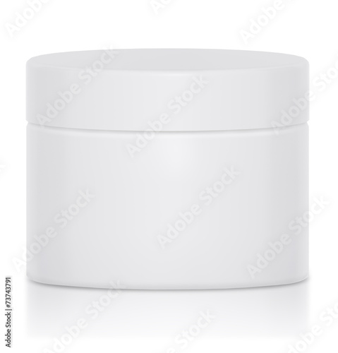 Mock UP Cream jar blank a logo - 73743791