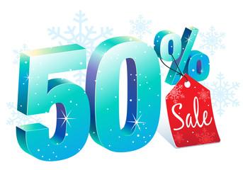Winter 50% Off Discount Sale