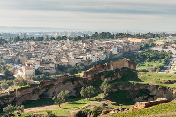 View over the ancient medina of Fez, Morocco