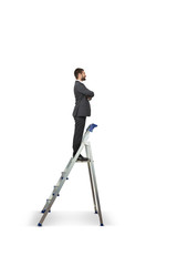 businessman on the stepladder