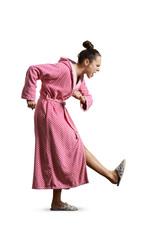 woman giving the kick