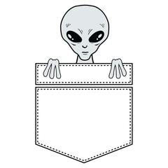Alien in the pocket