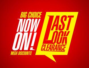 Last look clearance.