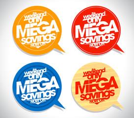 Mega savings bubbles set.