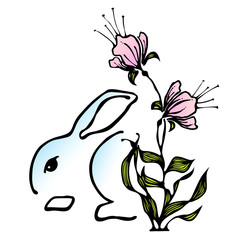 Easter Bunny Stylized Icon