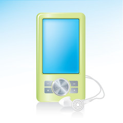 Generic MP3 Player Icon with reflection