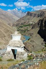 Buddhist chorten in Zanskar, Ladakh