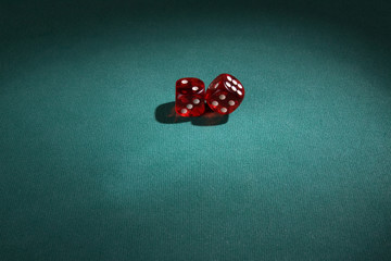 dice in top view