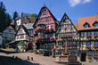 Leinwandbild Motiv Marktplatz mit Brunnen, Miltenberg a.Main