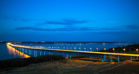 The bridge across the Volga