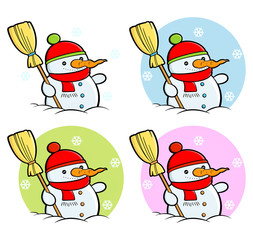 Snowman clipart and stickers