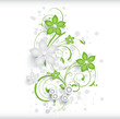 Abstract floral background with 3D effect