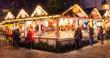 Leinwanddruck Bild - Weihnachtsmarkt in Deutschland