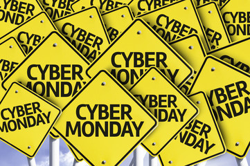 Cyber Monday written on multiple road sign