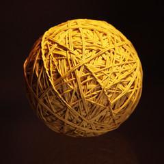 Oggetto, sfera, elastici,