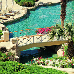 beautiful resort swimming pool