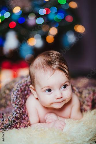 canvas print picture baby weihnachten