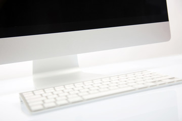 Computer Screen, Keyboard and Mouse