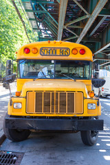 Public School Bus on the Road