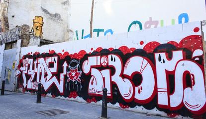 Grunge graffiti wall