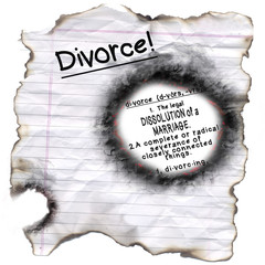 Divorce Definition through Burned Hole
