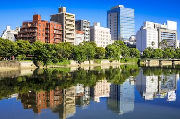 Hiroshima, Japan cityscape on the Otagawa River