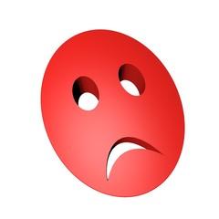 Red sad mask